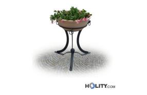 fioriera-rotonda-con-vaso-in-terracotta-h28750