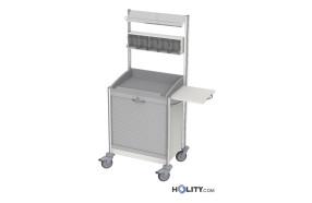 carrello-ospedaliero-con-5-contenitori-per-medicazione-h44603