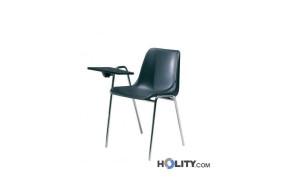 Sedia per sala conferenze impilabile e imbottita h
