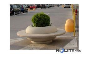 fioriera-con-seduta-circolare-h45012