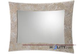 Specchiera di design con cornice in mdf decorata h11992
