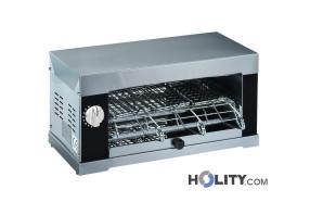 Tostiera professionale 2 pinze in acciaio inox h19006