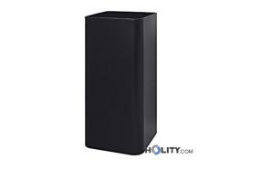Portaombrelli quadrato in acciaio h2246 acciaio nero