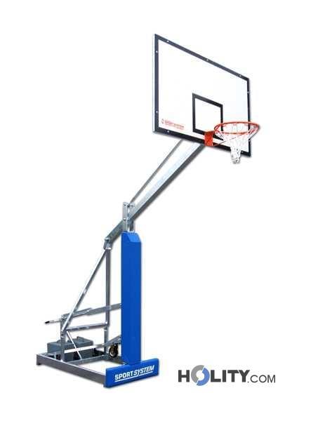 Impianto basket mobile su ruote h3705