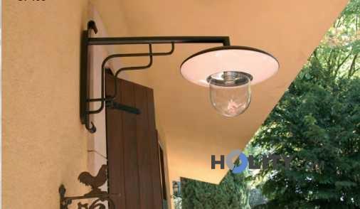 Lampadari In Ferro Battuto Per Esterno : Lampada da parete esterno in ferro battuto con piatto ebay
