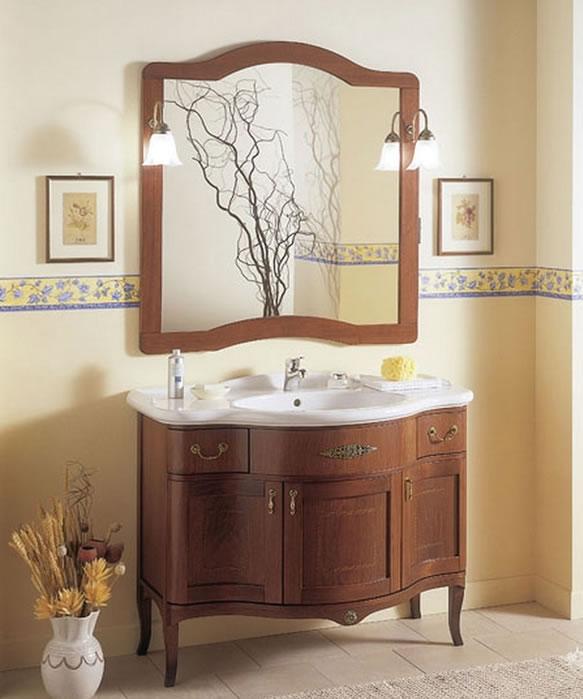 mobile bagno classico in legno h11301