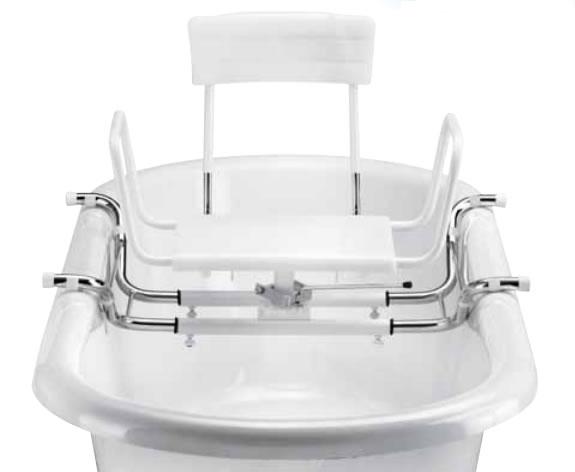 sedile girevole e regolabile per vasca da bagno h5629