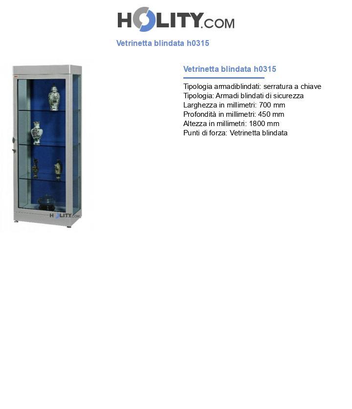 Vetrinetta blindata h0315