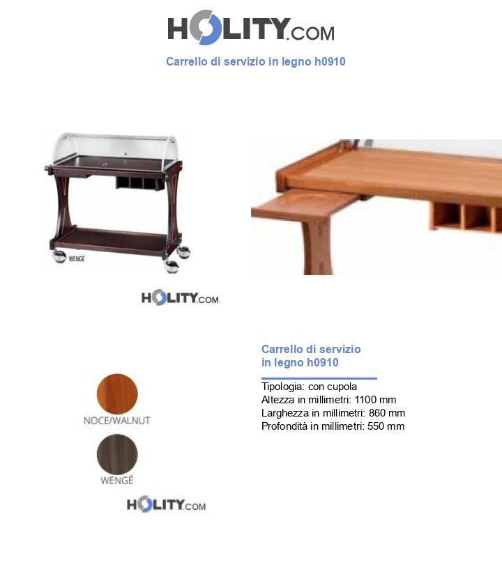 Carrello di servizio in legno h0910