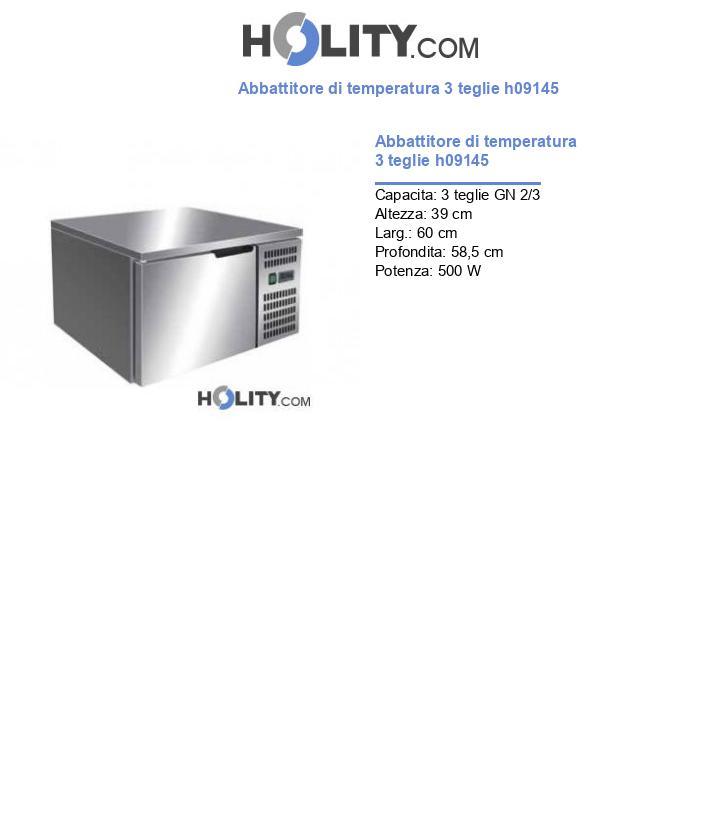Abbattitore di temperatura 3 teglie h09145