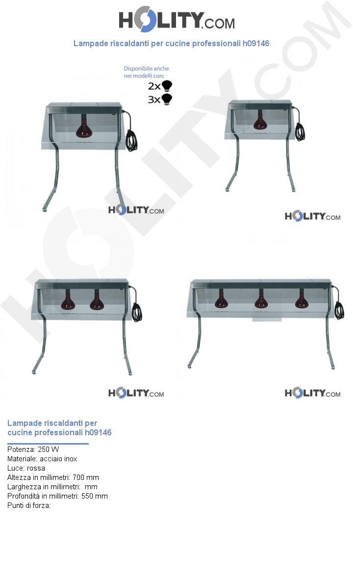 Lampade riscaldanti per cucine professionali h09146