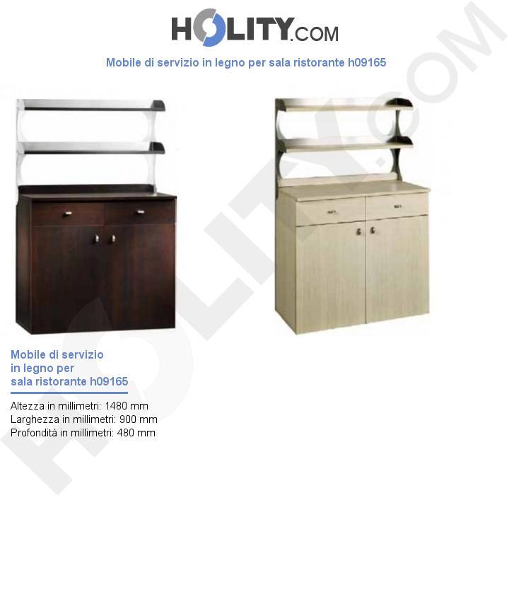 Mobile di servizio in legno per sala ristorante h09165