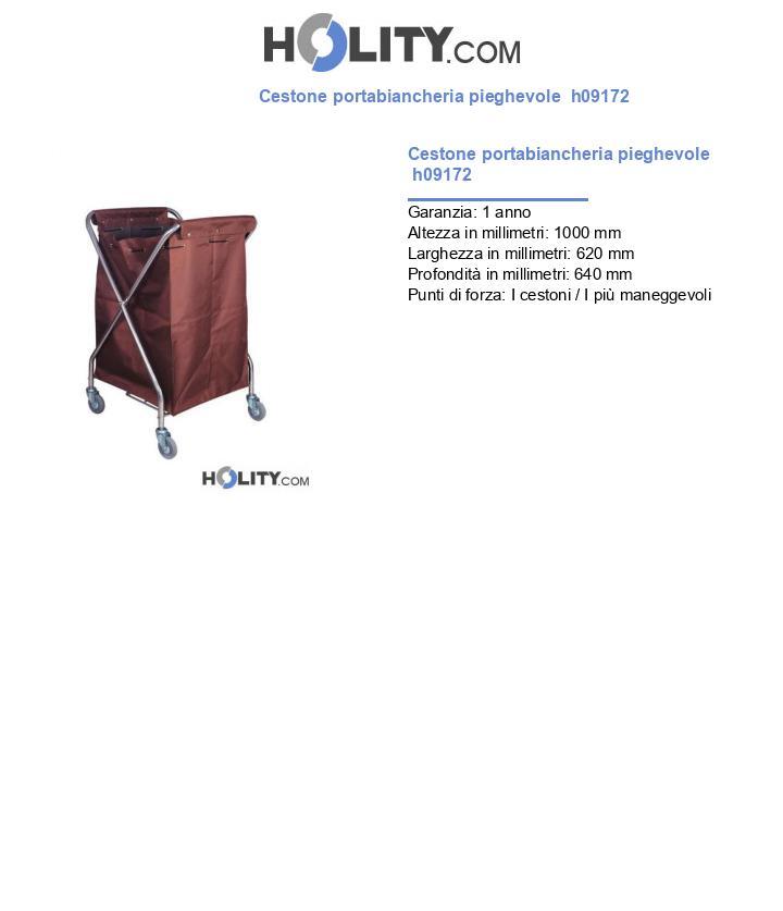 Cestone portabiancheria pieghevole  h09172