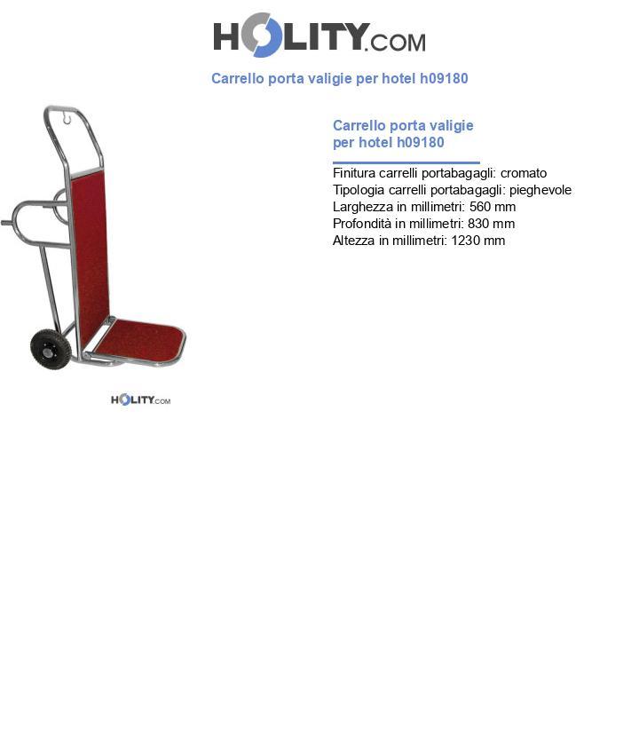 Carrello porta valigie per hotel h09180