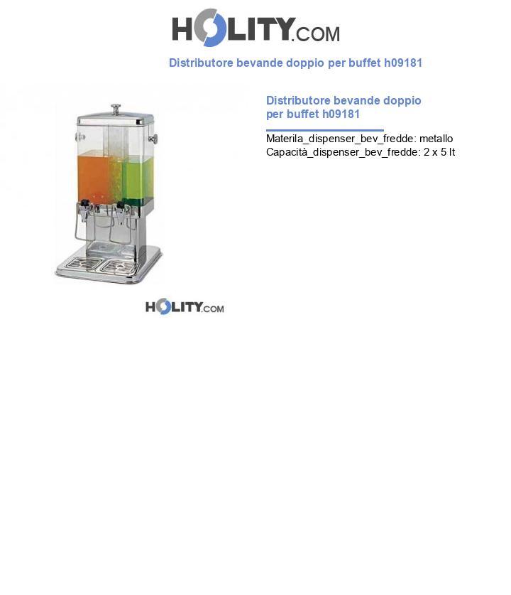 Distributore bevande doppio per buffet h09181