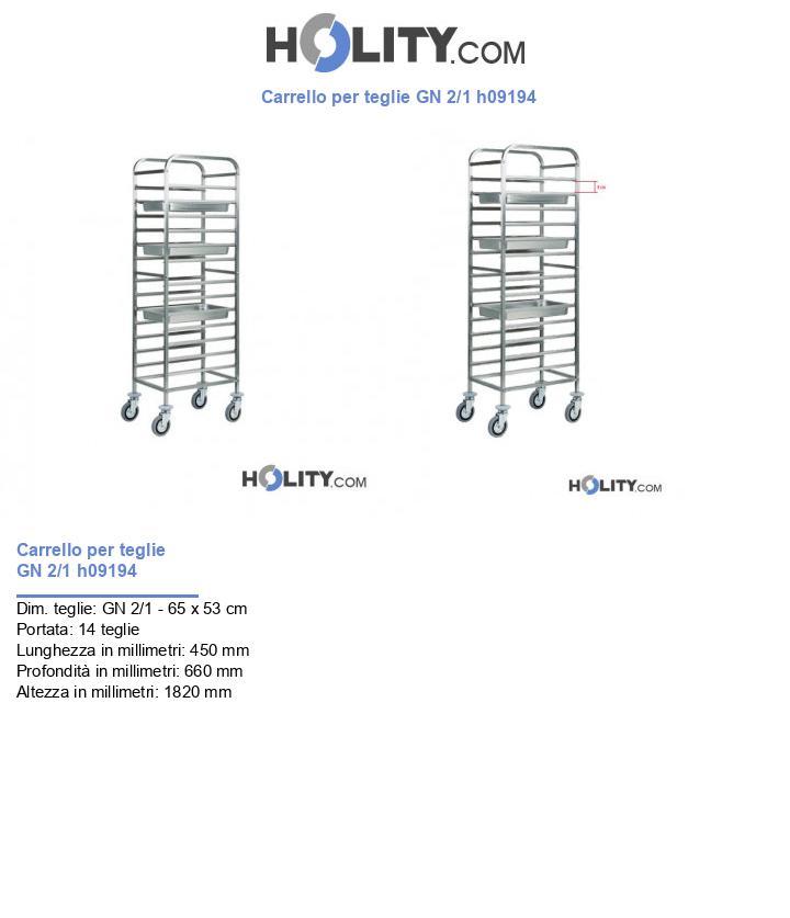 Carrello per teglie GN 1/1 h09194