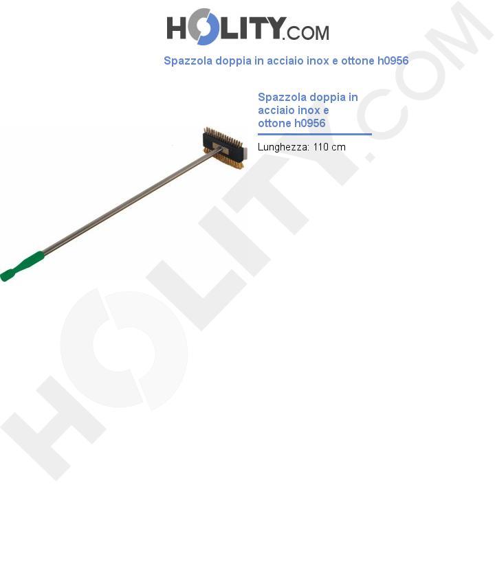 Spazzola doppia in acciaio inox e ottone h0956