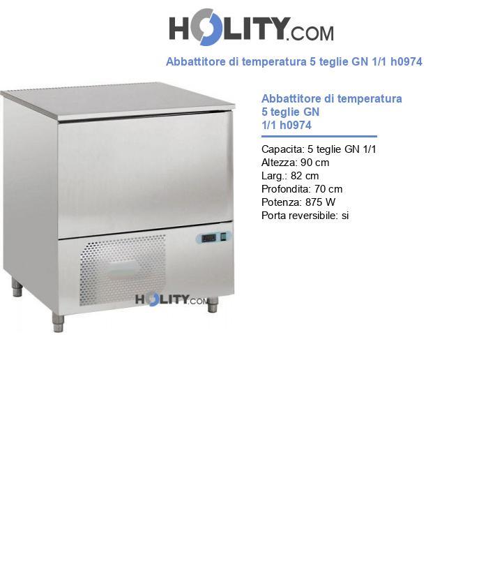 Abbattitore di temperatura 5 teglie GN 1/1 h0974