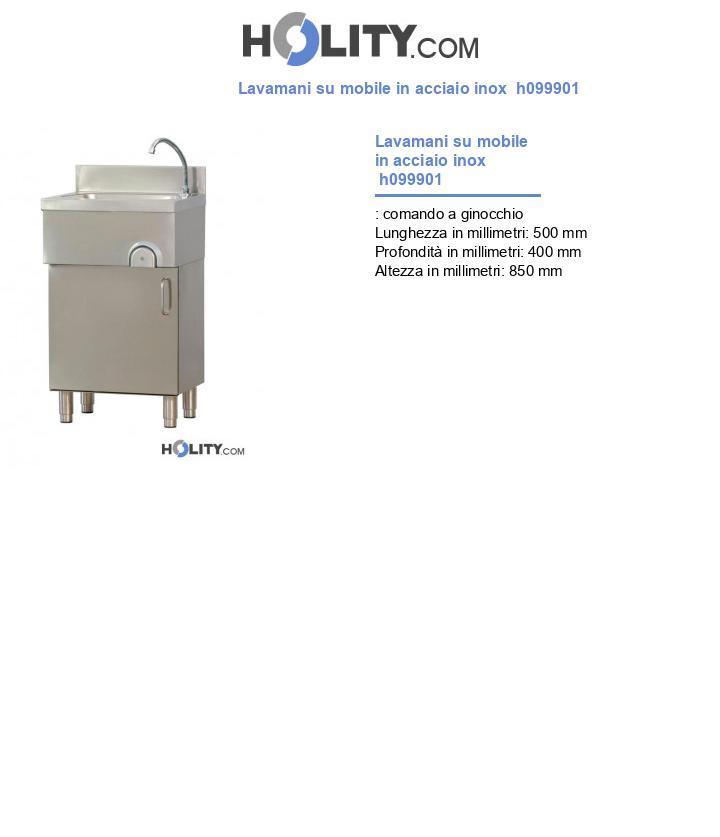 Lavamani su mobile in acciaio inox  h099901