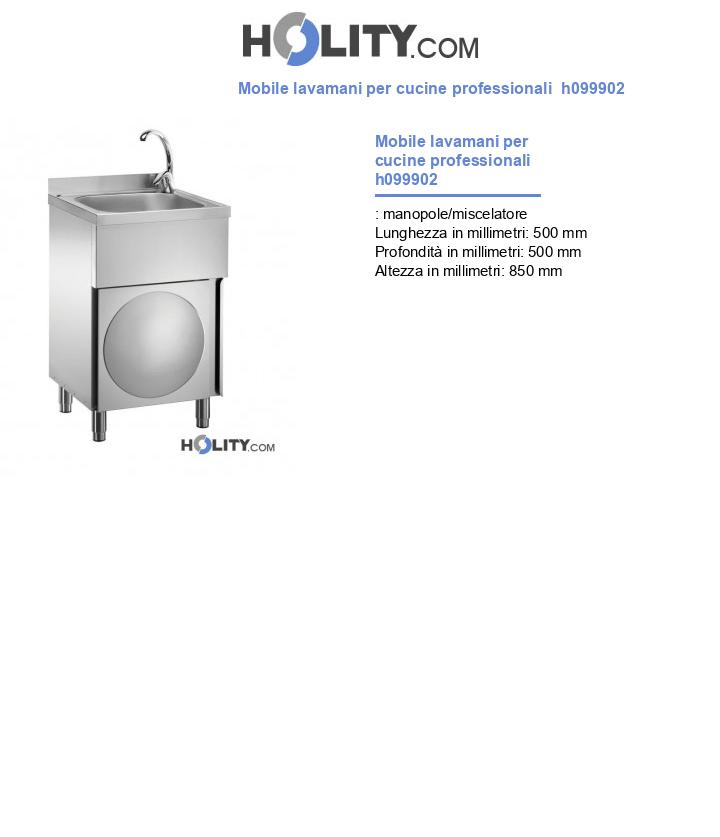 Mobile lavamani per cucine professionali  h099902