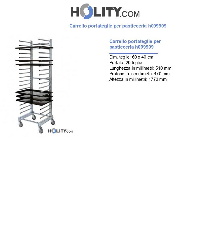 Carrello portateglie per pasticceria h099909