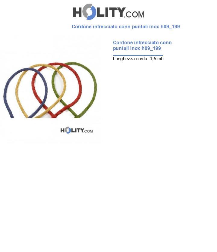 Cordone intrecciato conn puntali inox h09_199