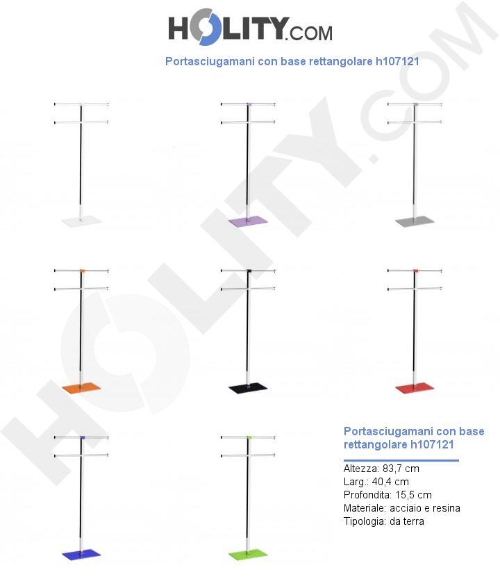 Portasciugamani con base rettangolare h107121