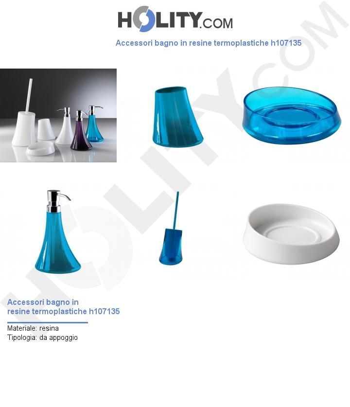 Accessori bagno in resine termoplastiche h107135