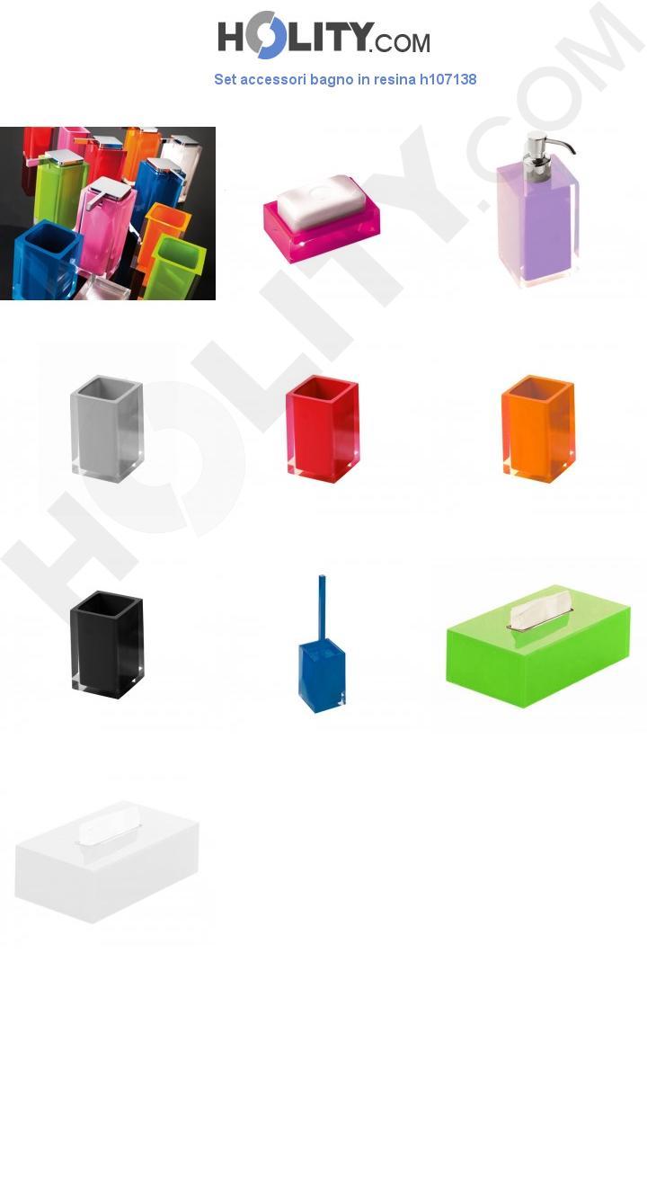 Set accessori bagno in resina h107138