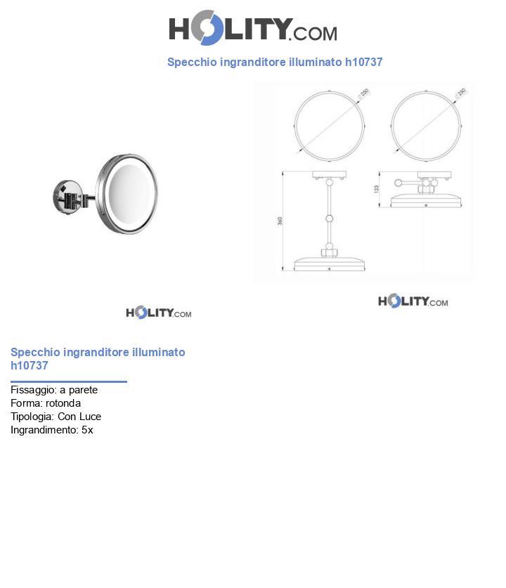 Specchio ingranditore illuminato h10737