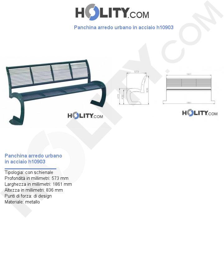 Panchina arredo urbano in acciaio h10903