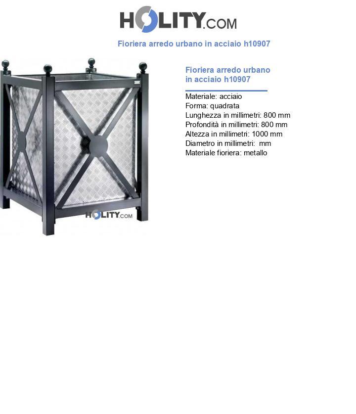 Fioriera arredo urbano in acciaio h10907