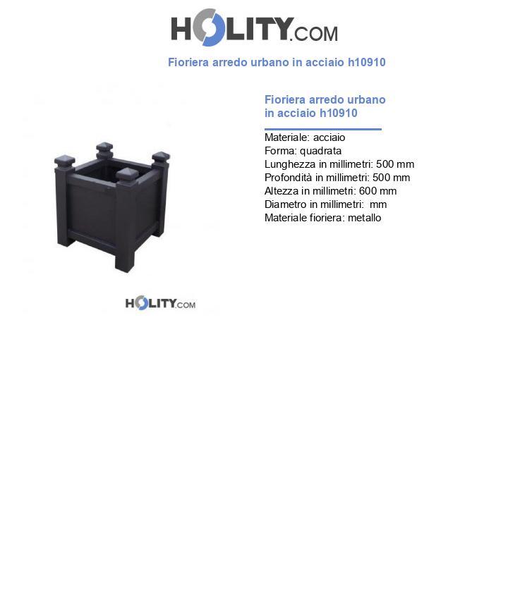 Fioriera arredo urbano in acciaio h10910