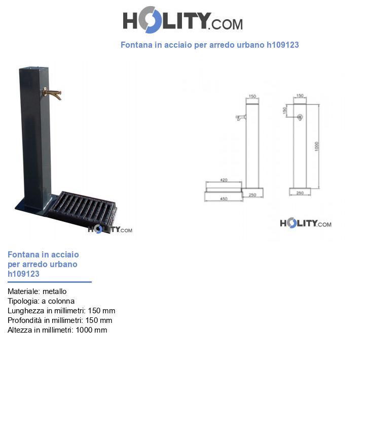 Fontana in acciaio h109123