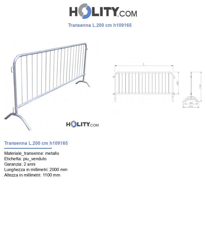 Transenna L.200 cm h109165