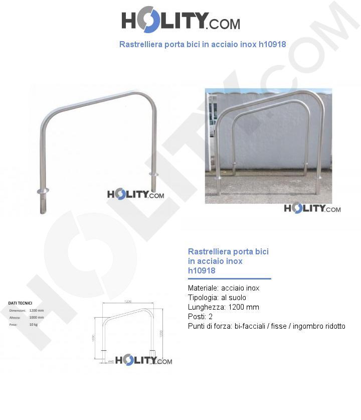 Rastrelliera porta bici in acciaio inox h10918