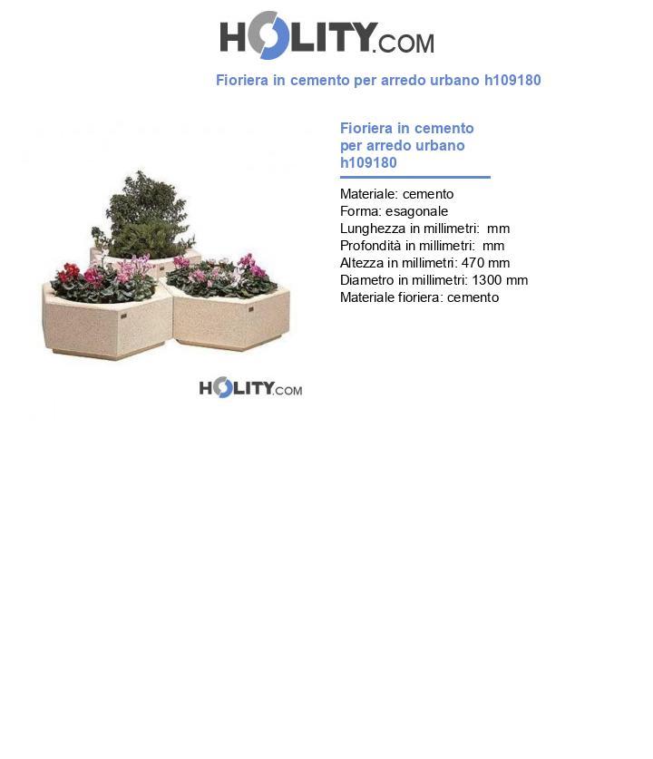 Fioriera in cemento per arredo urbano h109180