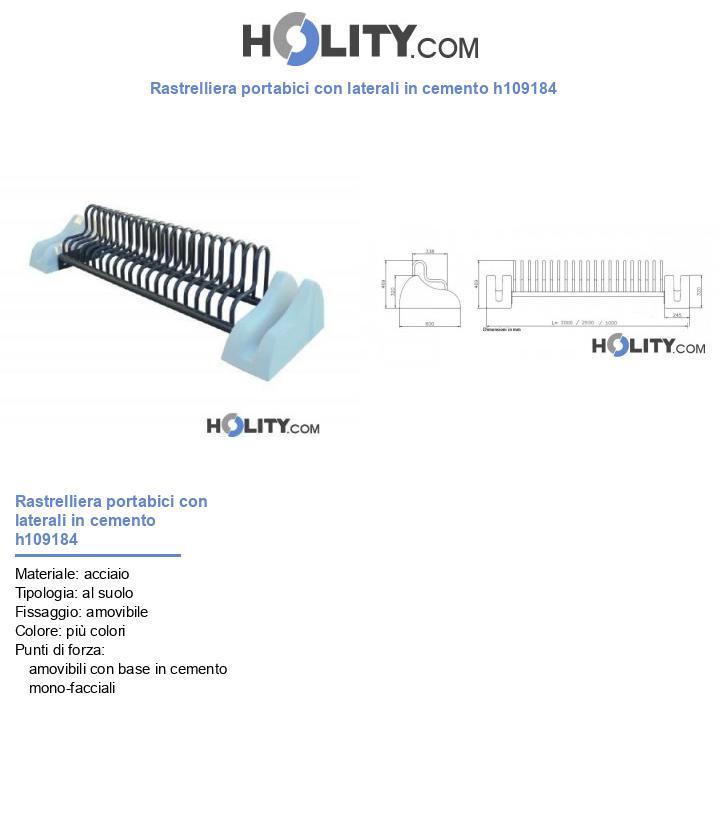 Rastrelliera portabici con laterali in cemento h109184