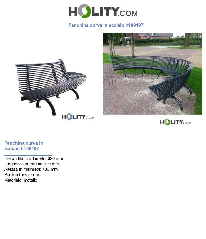 Panchina curva in acciaio h109197