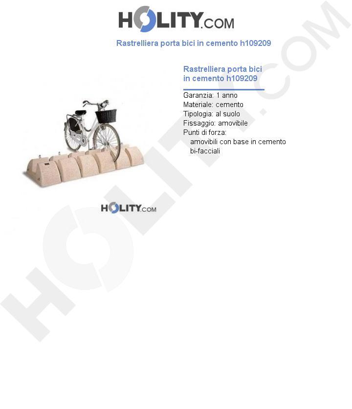 Rastrelliera porta bici in cemento h109209