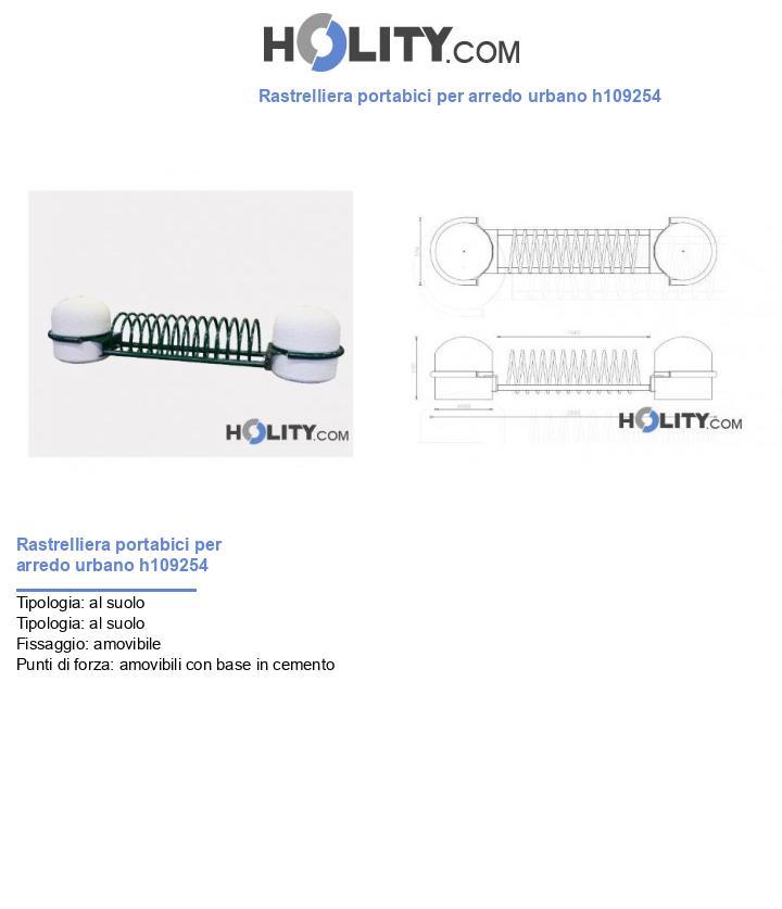 Rastrelliera portabici per arredo urbano h109254