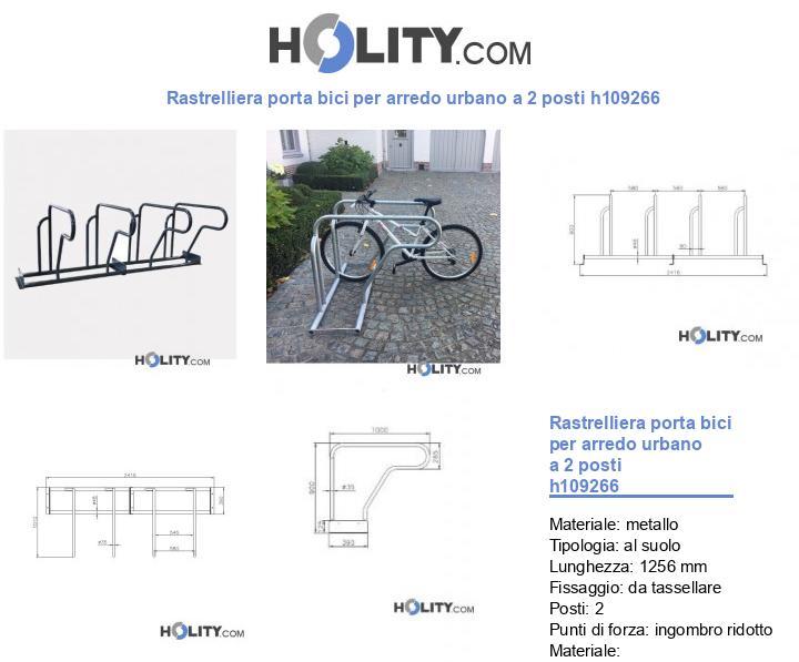 Rastrelliera porta bici per arredo urbano a 2 posti h109266