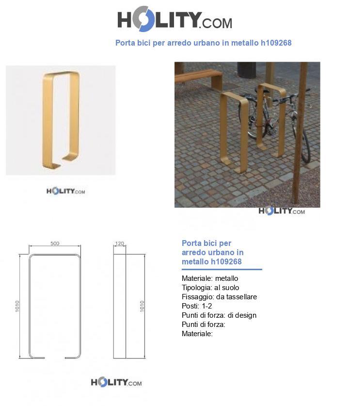 Porta bici per arredo urbano in metallo h109268