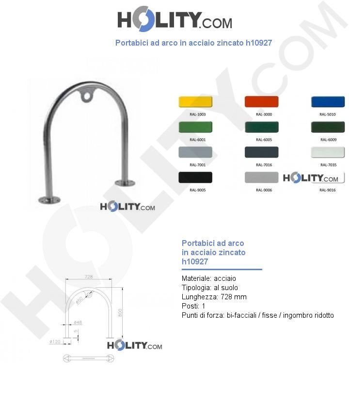 Portabici ad arco in acciaio zincato h10927