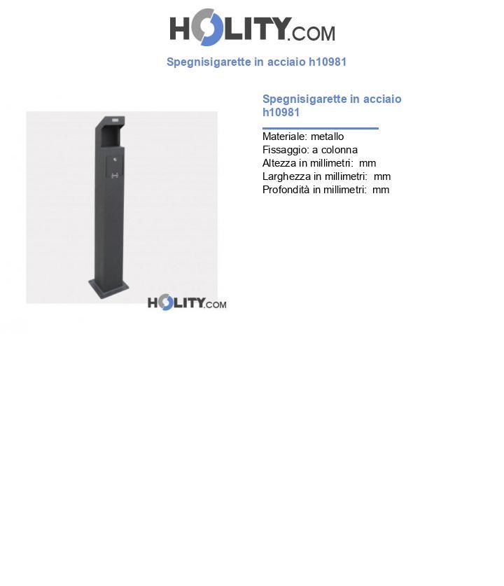 Spegnisigarette in acciaio h10981