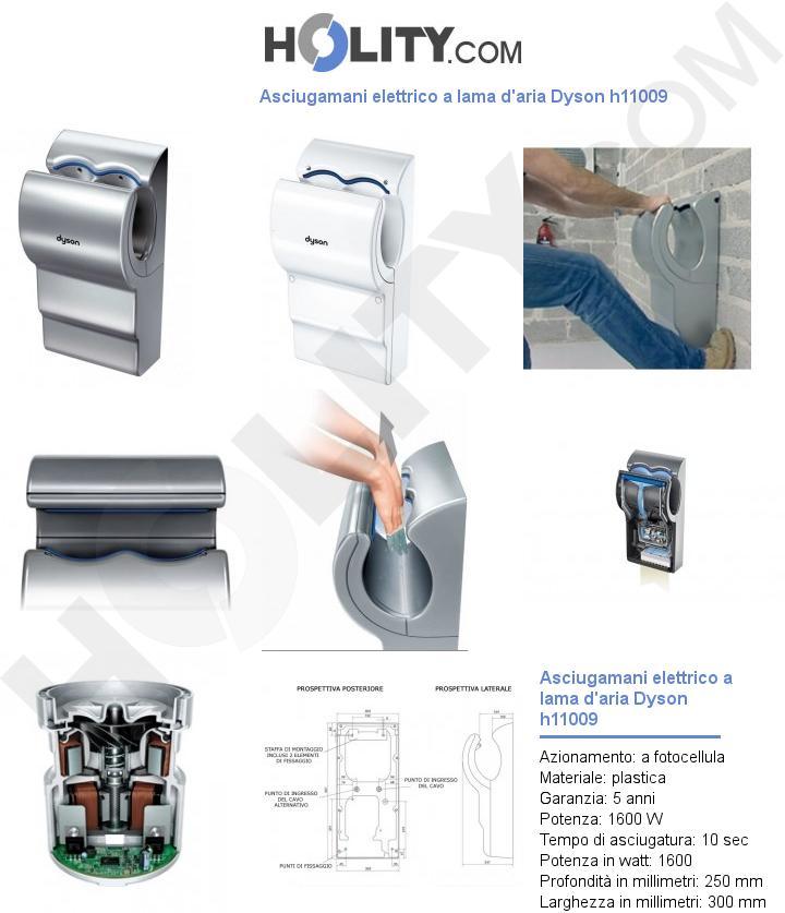 Asciugamani elettrico a lama d'aria Dyson h11009