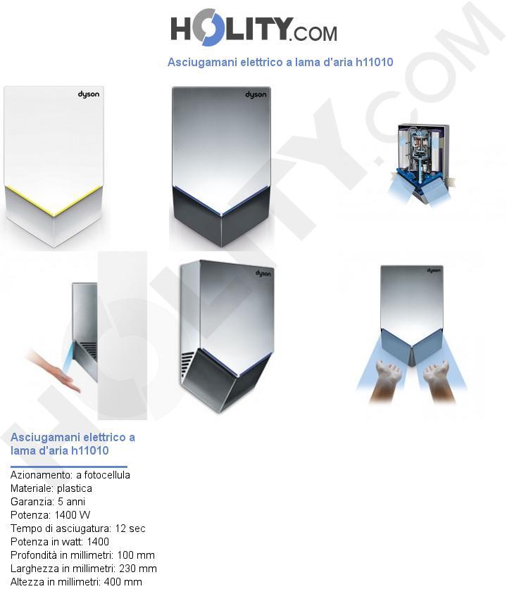 Asciugamani elettrico a lama d'aria h11010