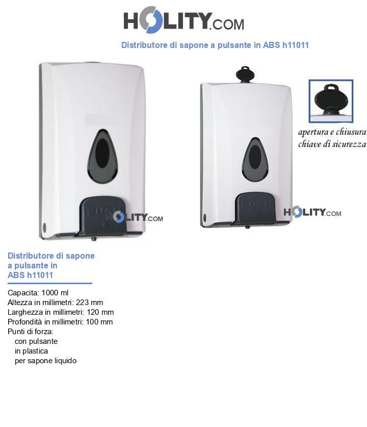 Distributore di sapone a pulsante in ABS h11011