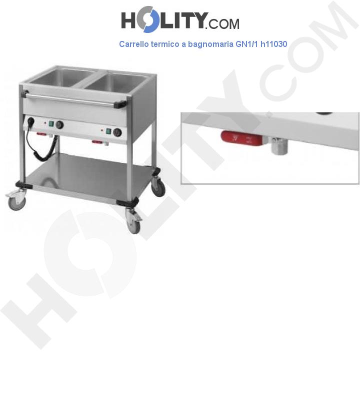 Carrello termico a bagnomaria GN1/1 h11030