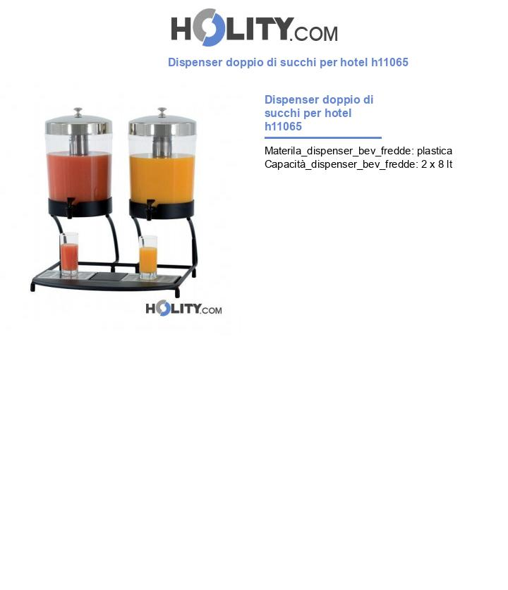 Dispenser doppio di succhi per hotel h11065